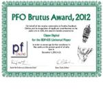 PFO Brutus Award 2012