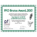 PFO Brutus Award 2013