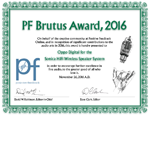 Positive Feedback Brutus Award 2016